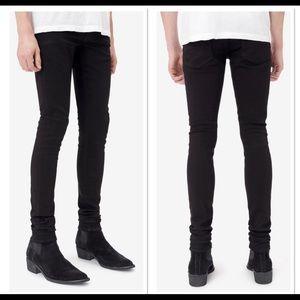 NWT AMIRI Black Stack Distressed Slim Leg Jeans 30
